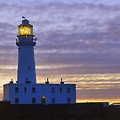 Flamborough Lighthouse.  by Lilian Marshall