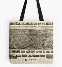 Bird's Eye View of Patchogue, New York (c1905) Tote Bag