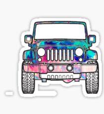Aquarell Jeep Sticker