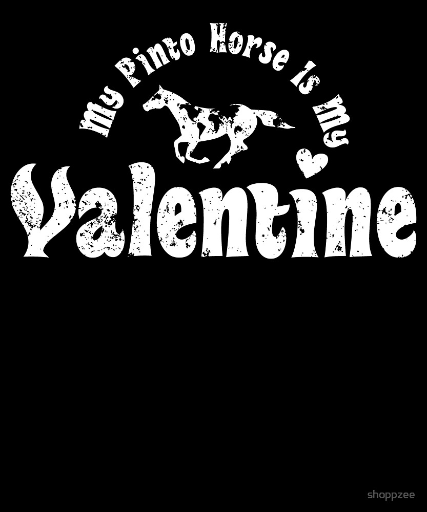 My Anti Valentine Pinto Horse by shoppzee