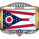 Ohio Art Deco Design with Flag by Cleave