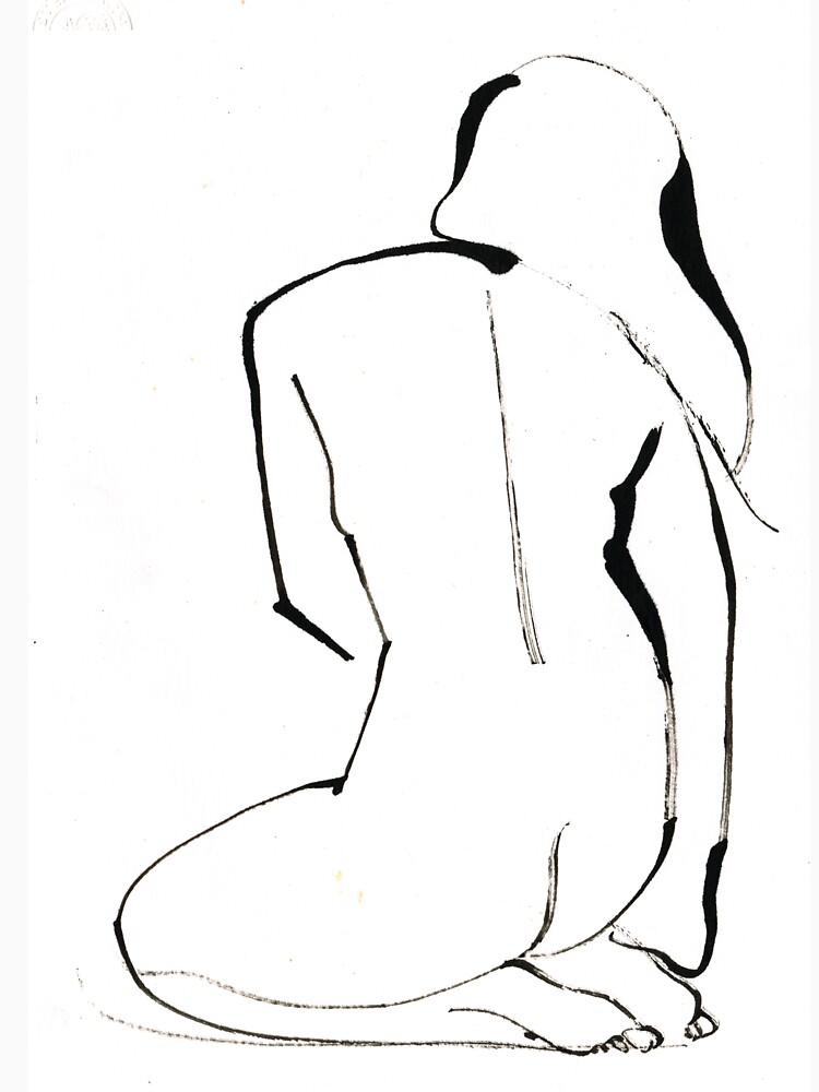 Nude Model Pose Drawing by CatarinaGarcia