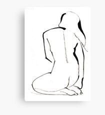 Nude Model Pose Drawing Canvas Print