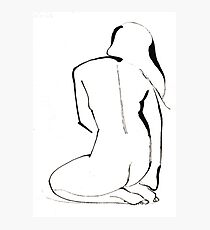 Nude Model Pose Drawing Photographic Print