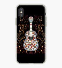 Sugar Skull Guitar T-shirt iPhone Case