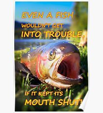 Fishing Trouble Poster