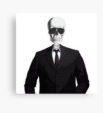 Skeleton Suit Canvas Print
