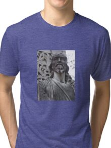 Jesus at The Pearly Gates Tri-blend T-Shirt