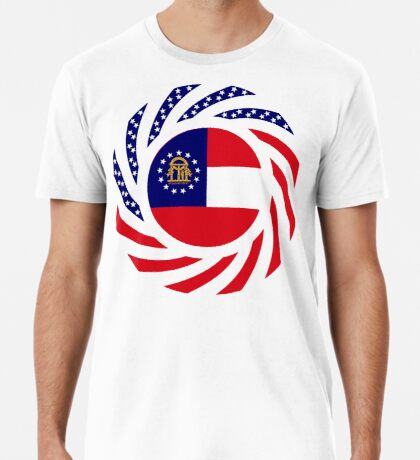 Georgian Murican Patriot Flag Series Premium T-Shirt