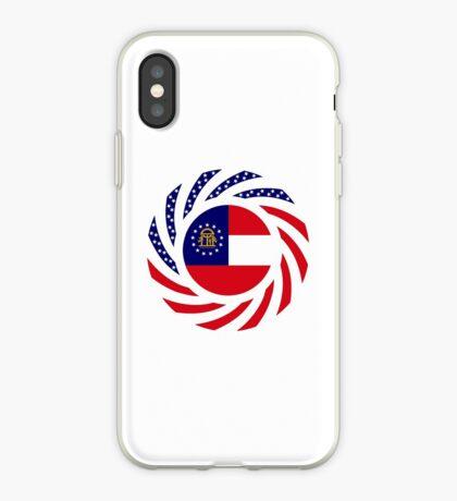 Georgian Murican Patriot Flag Series iPhone Case