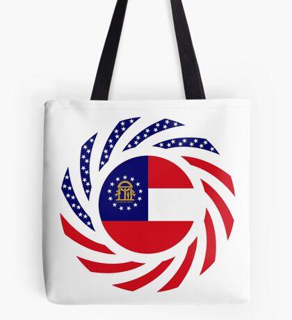 Georgian Murican Patriot Flag Series Tote Bag