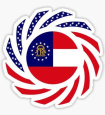 Georgian Murican Patriot Flag Series Sticker
