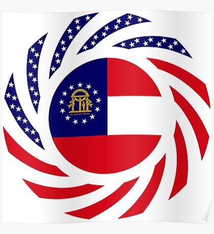 Georgian Murican Patriot Flag Series Poster