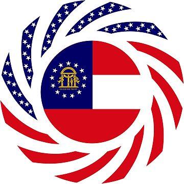 Georgian Murican Patriot Flag Series by carbonfibreme