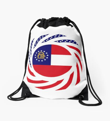 Georgian Murican Patriot Flag Series Drawstring Bag