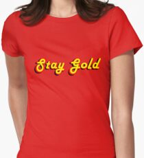 Stay Gold Women's Fitted T-Shirt