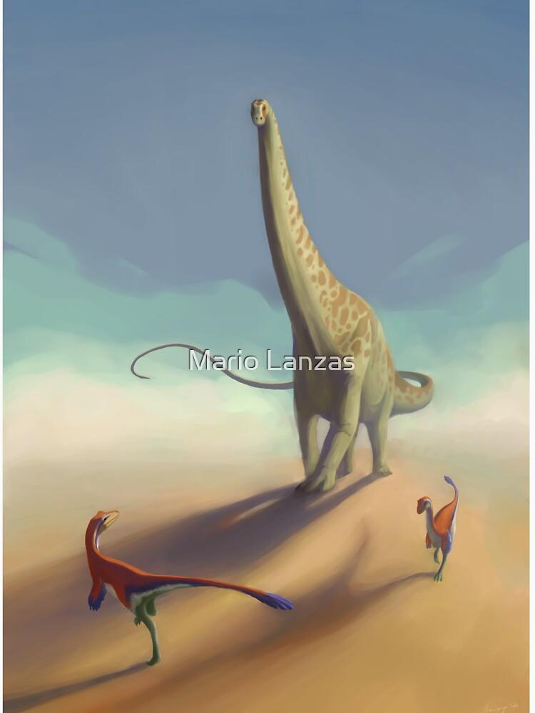 Diplodocus and Ornitholestes by mariolanzas