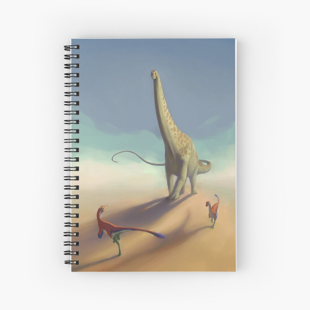 Diplodocus and Ornitholestes Spiral Notebook