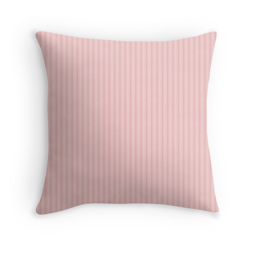 Small Lush Blush Pink and White Mattress Ticking Stripes