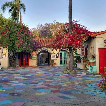 Spanish Village Art Center Balboa Park San Diego Wide View by DianaG
