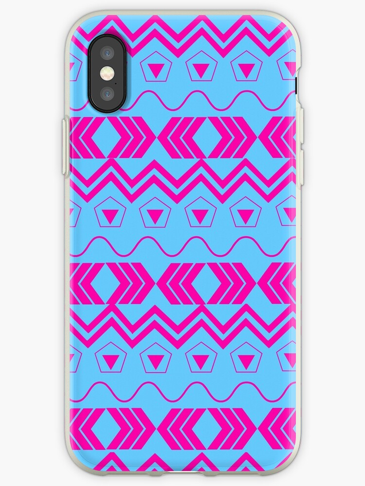 Blue & Pink Tribal Pattern by Art from the Mind of Music