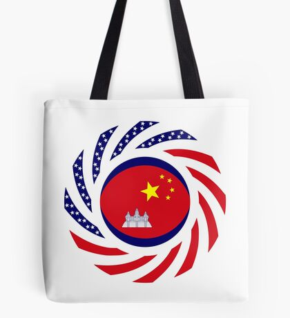 Chinese/Cambodian American Multinational Patriot Flag Series Tote Bag