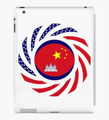 Chinese/Cambodian American Multinational Patriot Flag Series iPad Case/Skin