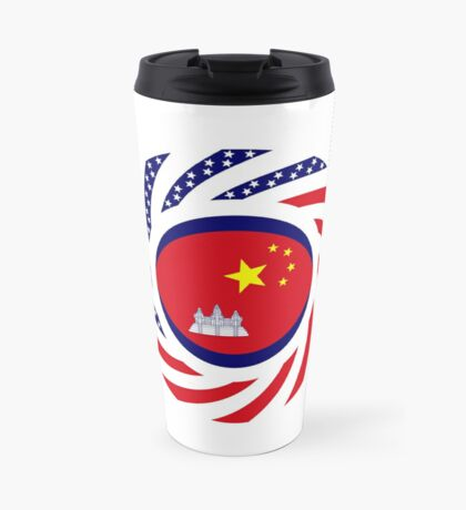 Chinese/Cambodian American Multinational Patriot Flag Series Travel Mug