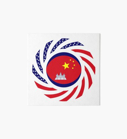 Chinese/Cambodian American Multinational Patriot Flag Series Art Board Print
