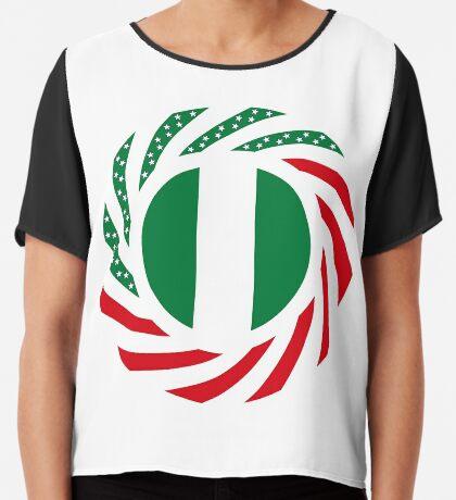 Nigerian American Multinational Patriot Flag Series Chiffon Top