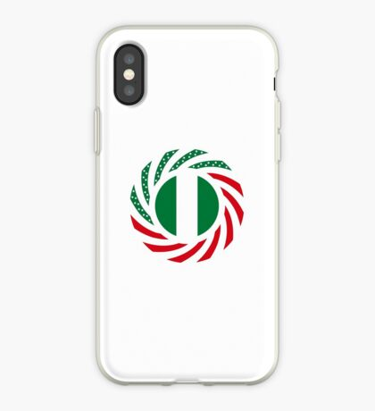 Nigerian American Multinational Patriot Flag Series iPhone Case