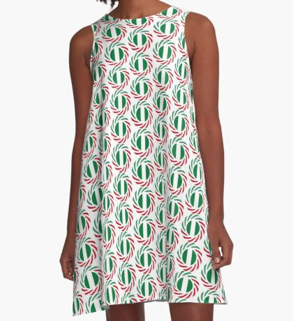 Nigerian American Multinational Patriot Flag Series A-Line Dress