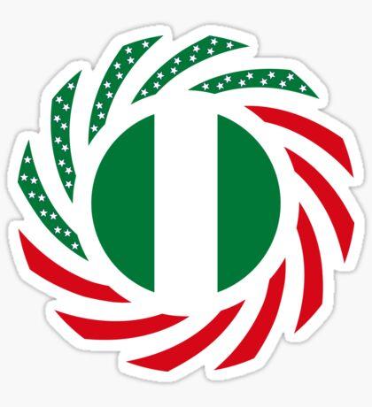 Nigerian American Multinational Patriot Flag Series Glossy Sticker