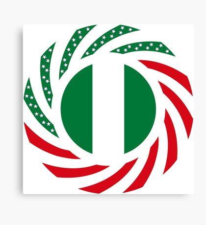 Nigerian American Multinational Patriot Flag Series Canvas Print