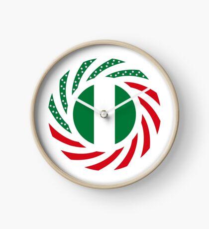 Nigerian American Multinational Patriot Flag Series Clock