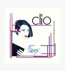 Clio -  faces 80s italo disco underground Art Print