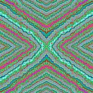 Blue Green Mauve Pattern by Julia Woodman
