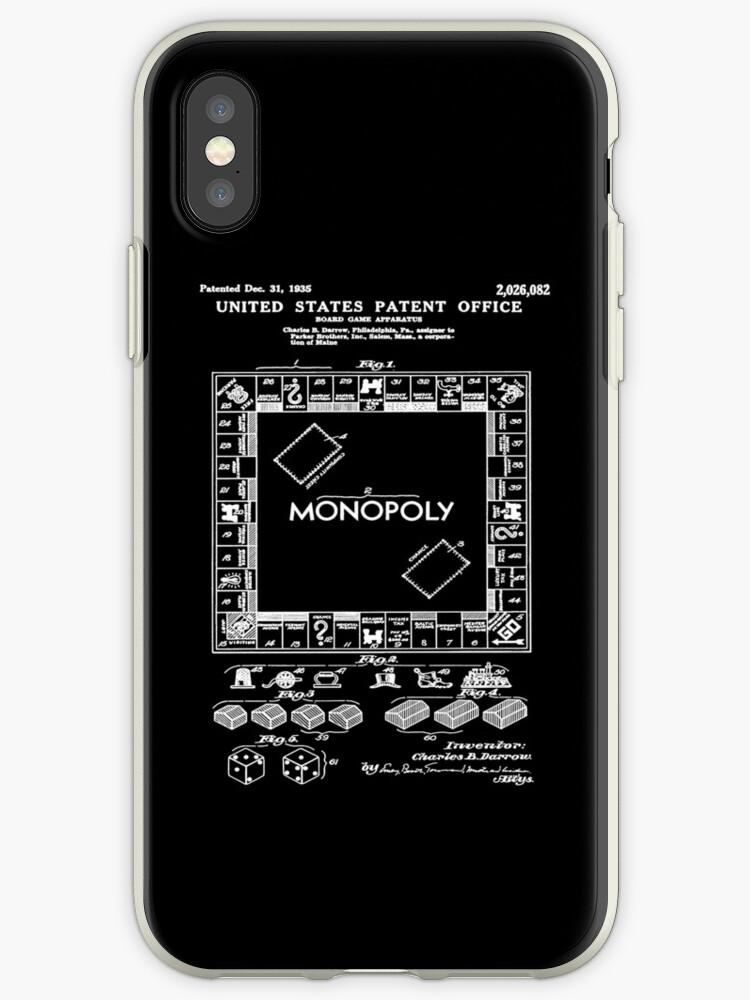 5be2a0f061f Vinilos y fundas para iPhone «Monopoly Game Patent White» de ...