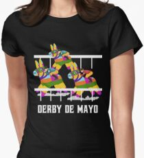 Derby De Mayo Pinata Jockeys T-Shirt Women's Fitted T-Shirt