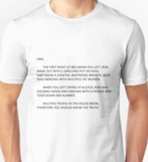 the note Unisex T-Shirt