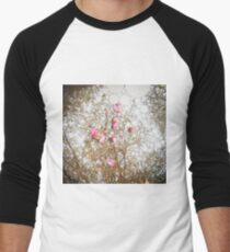 Spring Pink Reflection Men's Baseball ¾ T-Shirt