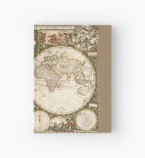 World map, 1660 Hardcover Journal