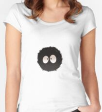 Soot Sprite Poofball Women's Fitted Scoop T-Shirt