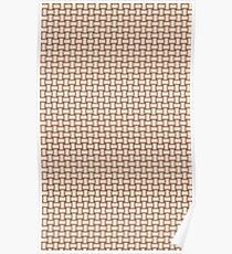 Tan basket weave pattern Poster