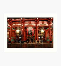 Three Lanterns Admired Art Print