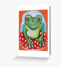 Smiley Frog Greeting Card