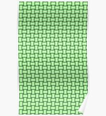 Green basket Weave Pattern Poster