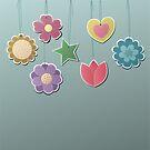 Süße Blumen an einer Schnur von kennasato