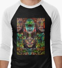Trip-O-Vision Online Gallery Design 22: Laced Faced Men's Baseball ¾ T-Shirt
