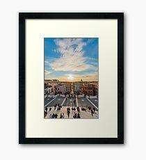 Sunset at the Spanish Steps Framed Print